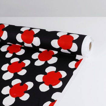 Big Daisy Print Red Roll
