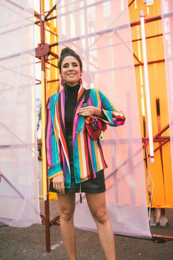 AUS stripe silk
