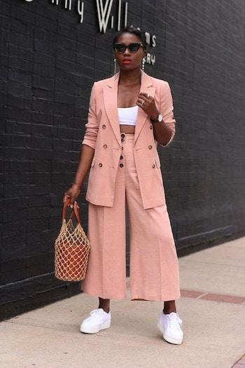 Vintage blush linen
