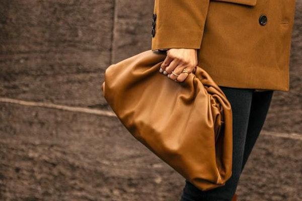 Leather inspo brown bag