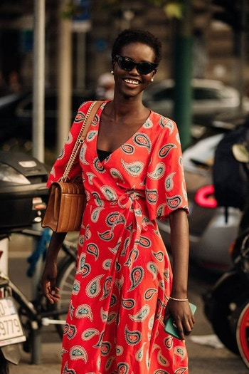 Red paisley inspo