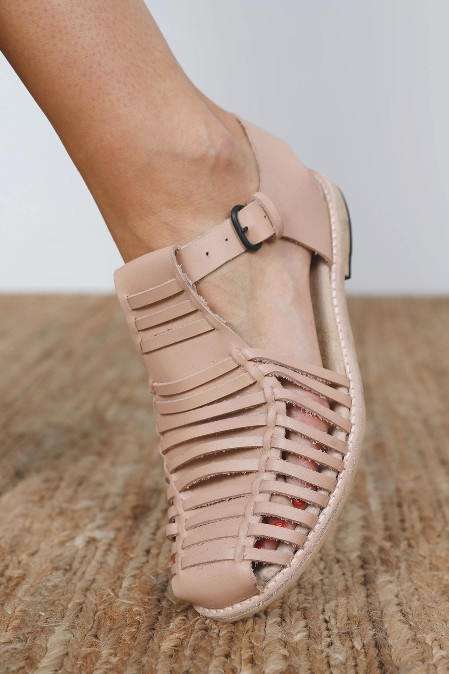 Edit buckle Astrid Sandal The Shoe Camaraderie Leather By The Fabric Store Cass Pant