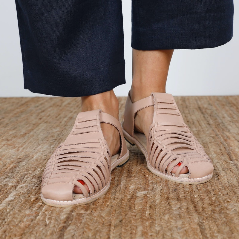 Front 2 Astrid Sandal The Shoe Camaraderie Leather By The Fabric Store Cass Pant
