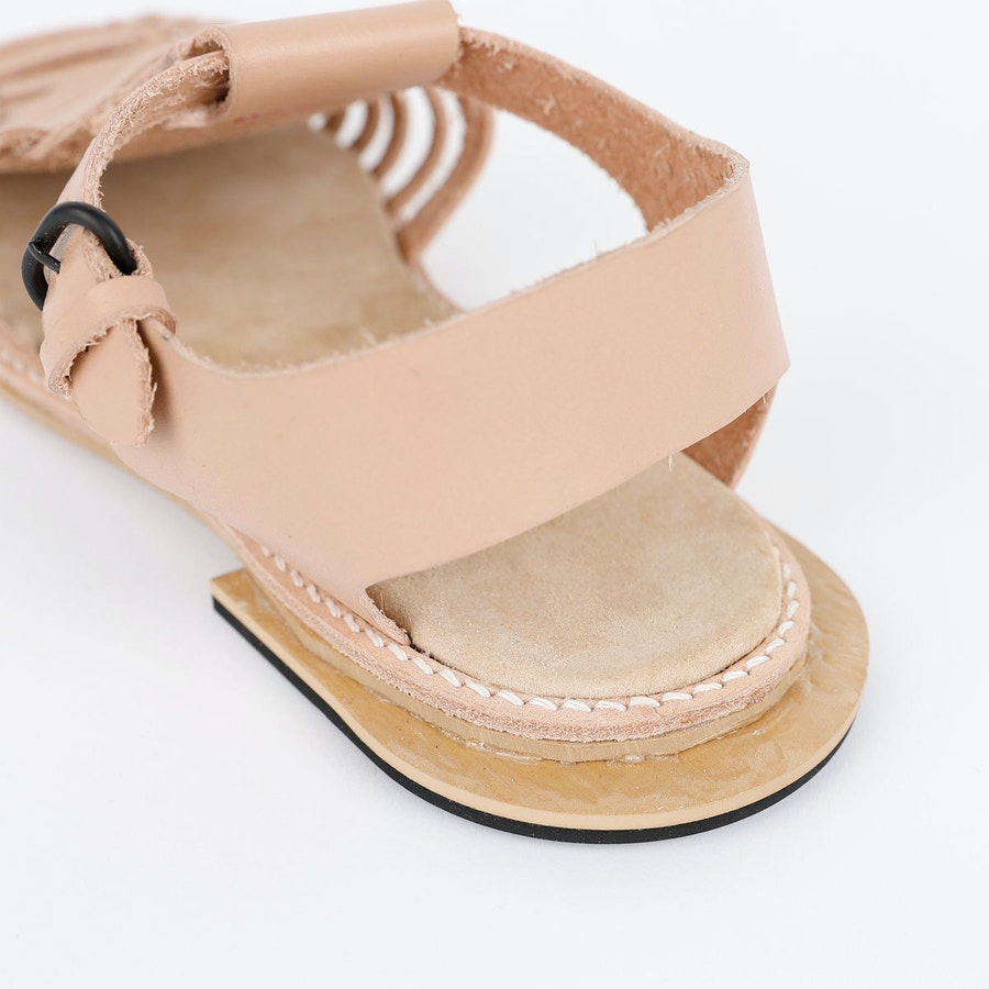 Heel Astrid Sandal The Shoe Camaraderie Leather By The Fabric Store