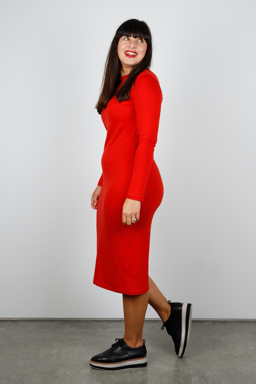 Side poppy nikko dress side