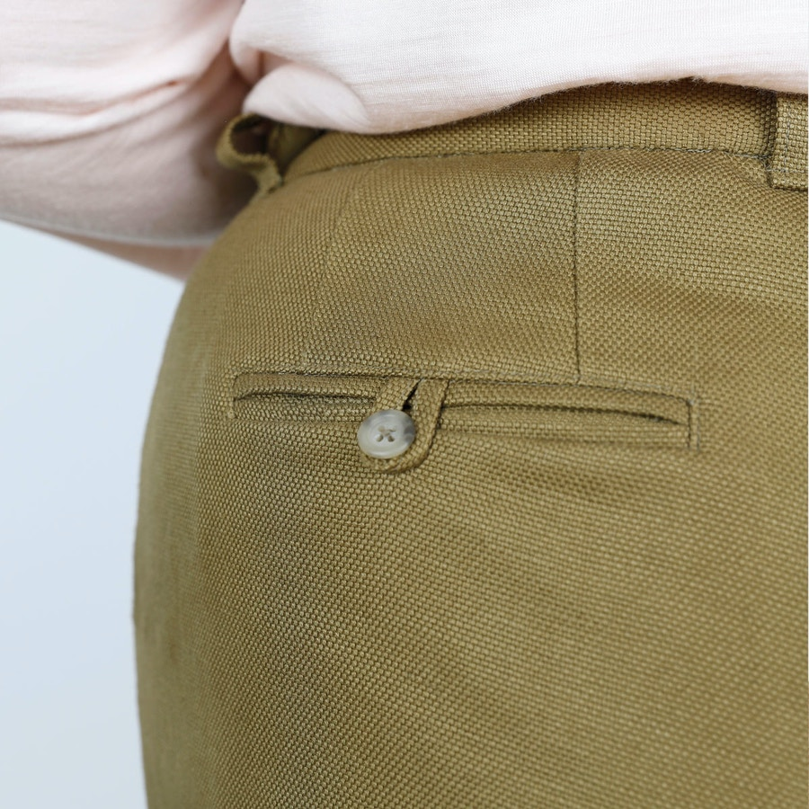 SQ Cass Pant Pocket Army Linen