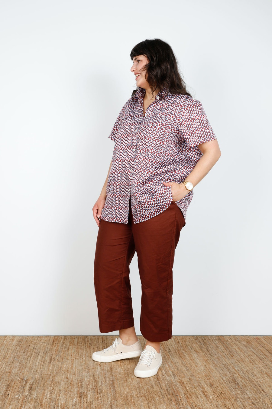 Side Pocket Bloom Shirt in Prints Cass Pant Make by TFS