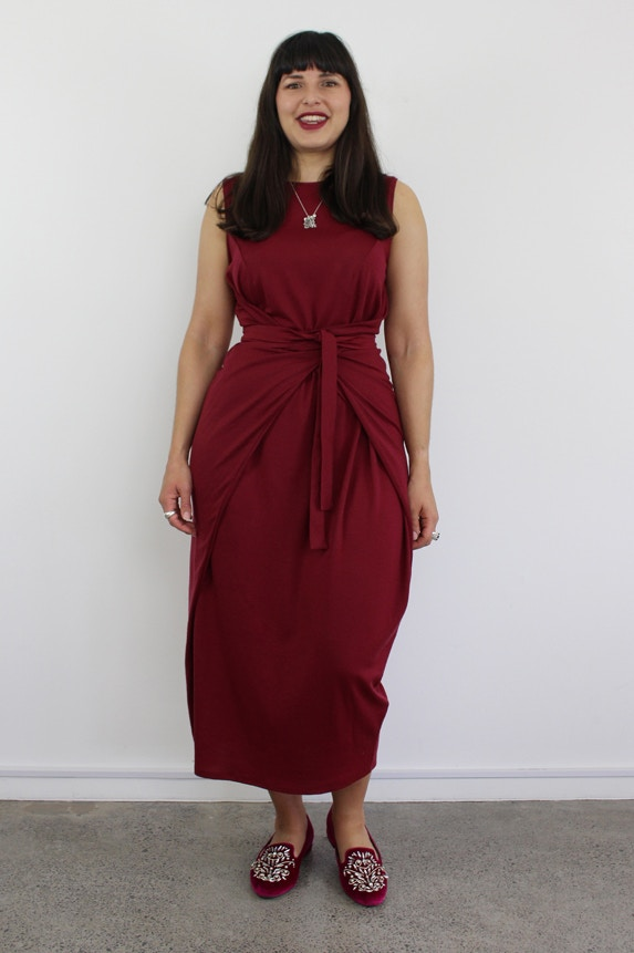 Kielo wrap dress named double two fabric by the fabric store