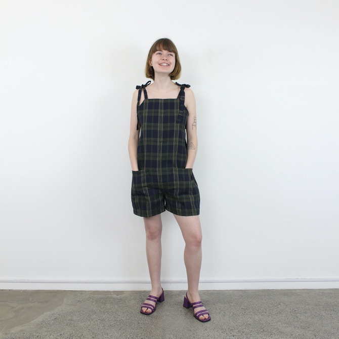 Insta Playsuit Full Plaid Fabric By The Fabric Store
