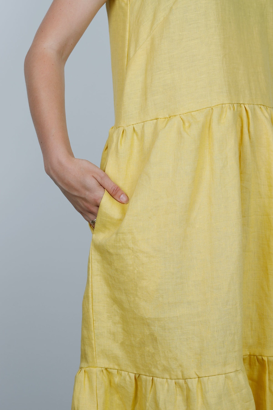 Detail peppermint mag bardon dress buttercup lvf inen by the fabric store