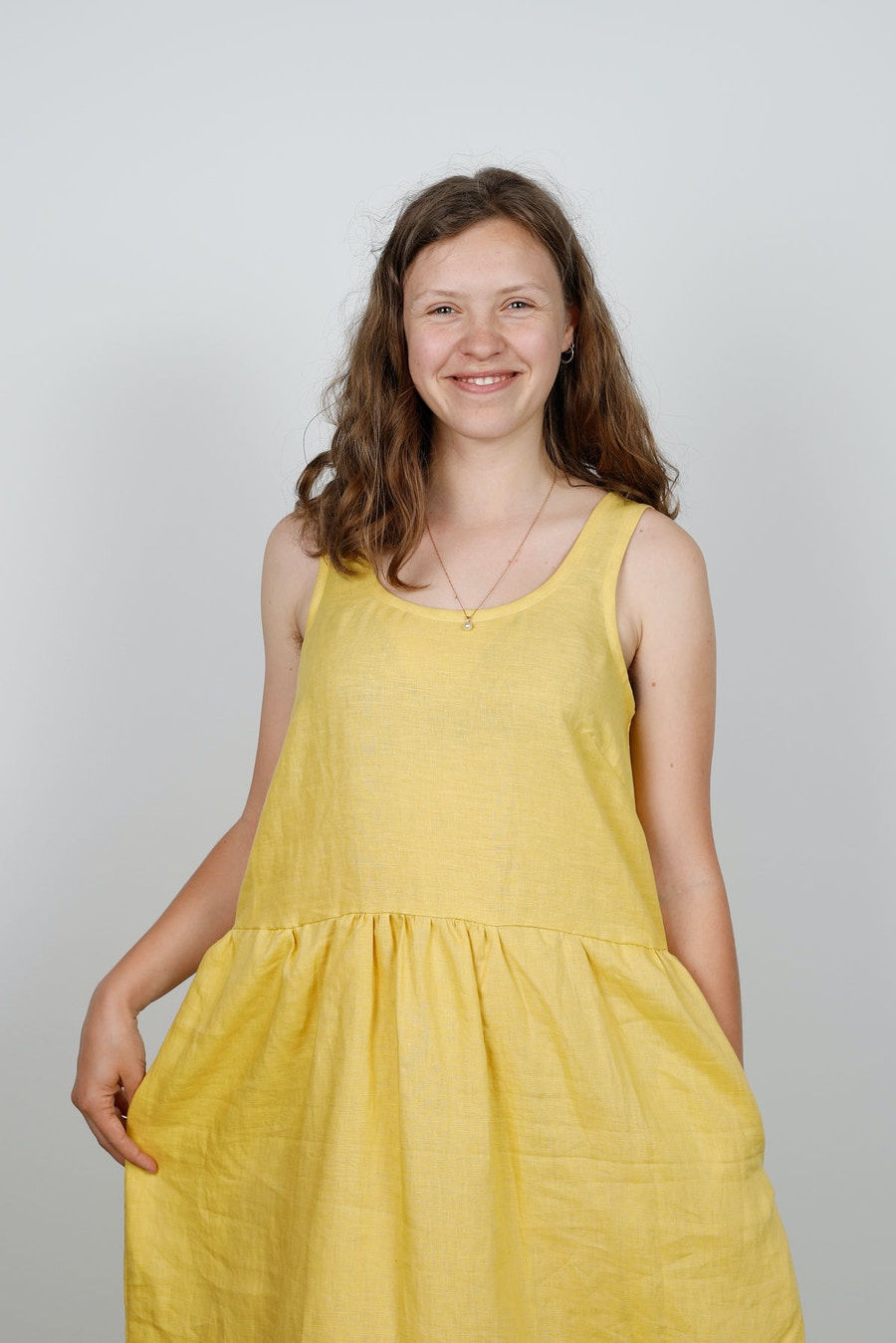Smile peppermint mag bardon dress buttercup lvf inen by the fabric store