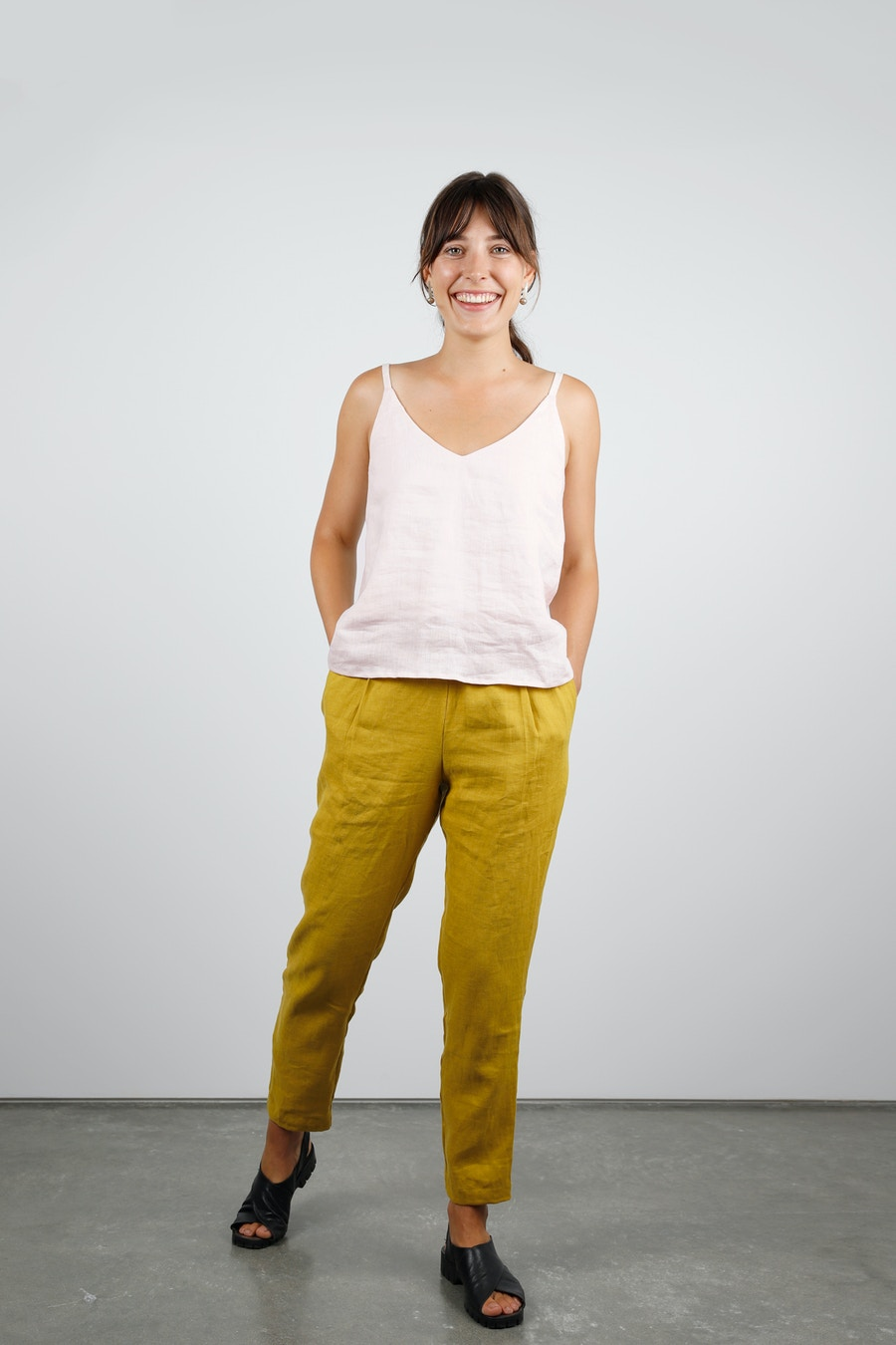 Ogden cami front true bias miller trouser paper theory the fabric store