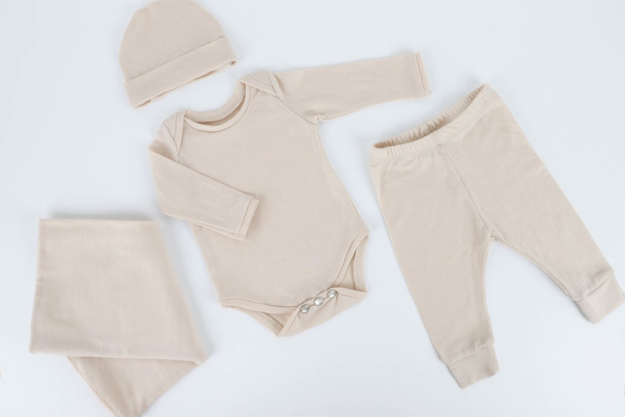 New baby essentials vanilla wrap set zq merino by the fabric store